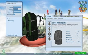 Backpack simulation game